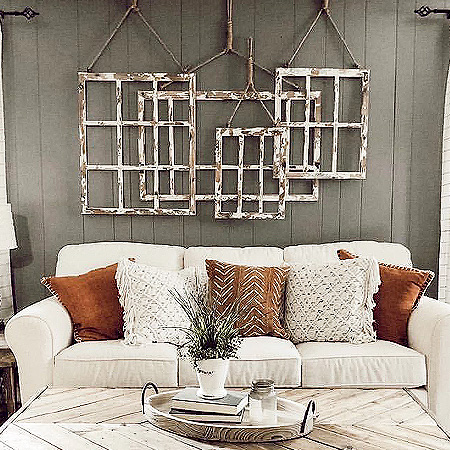 Rustic Window Frame Wall Decor Hanging Window Frames Decor Steals